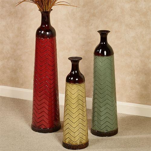 Chevron Decorative Metal Floor Vase Set Metal Floor Chevron