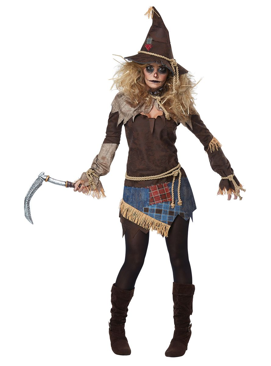 Disfraz de espantapájaros siniestro para mujer  1e829287e7d6