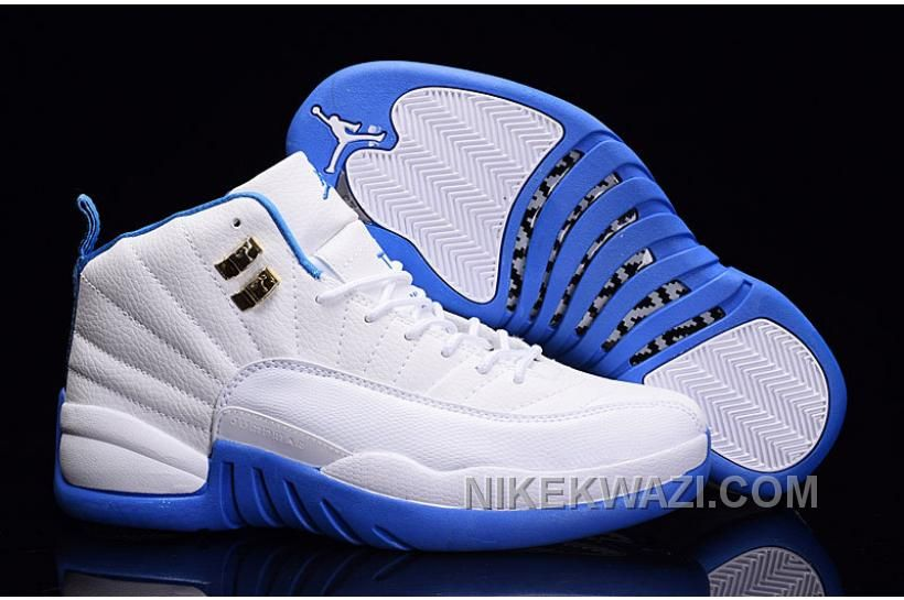 http://www.nikekwazi.com/2016-air-jordan-12-whitemetallic-gold-university-blue-for-sale.html 2016 AIR JORDAN 12 WHITE-METALLIC GOLD/UNIVERSITY BLUE FOR SALE Only $84.00 , Free Shipping!