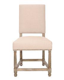 """""""Faxon"""" Linen Side Chair"""