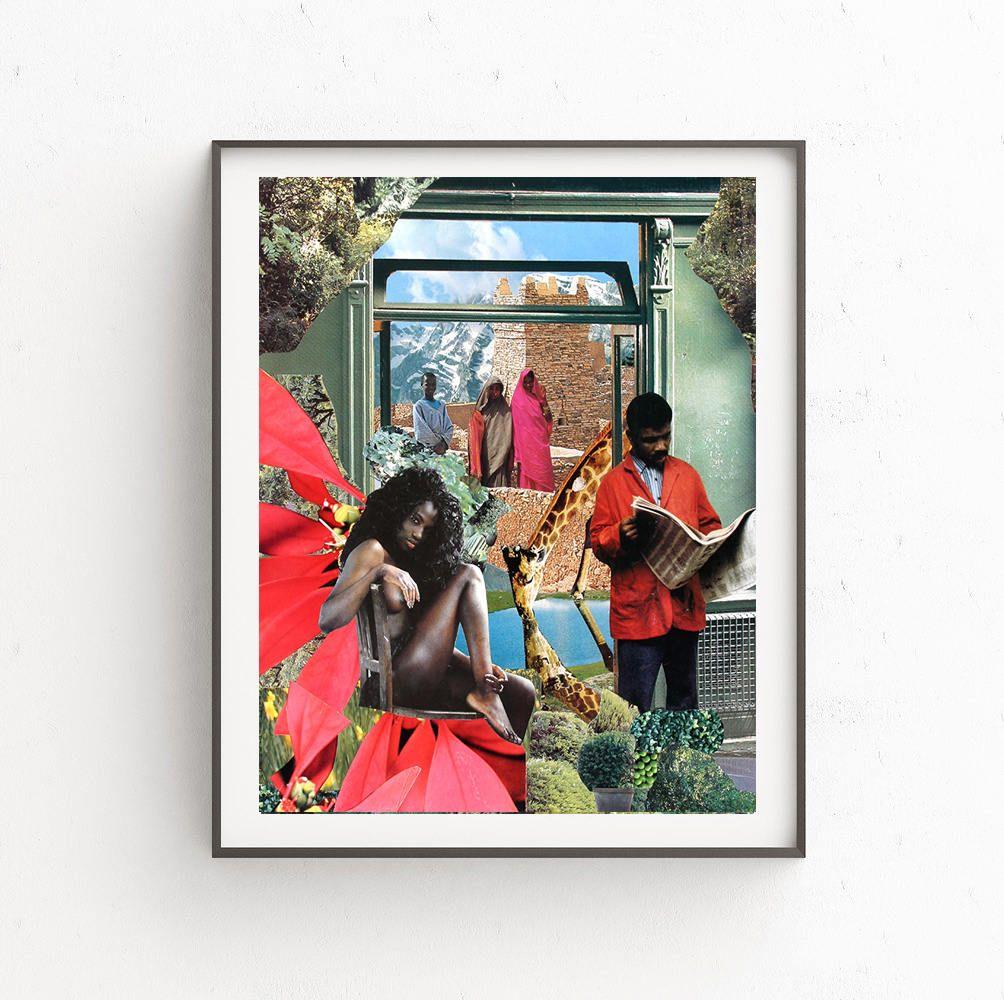 Collage print. Printable art, Digital print, Instant Download 3 JPG