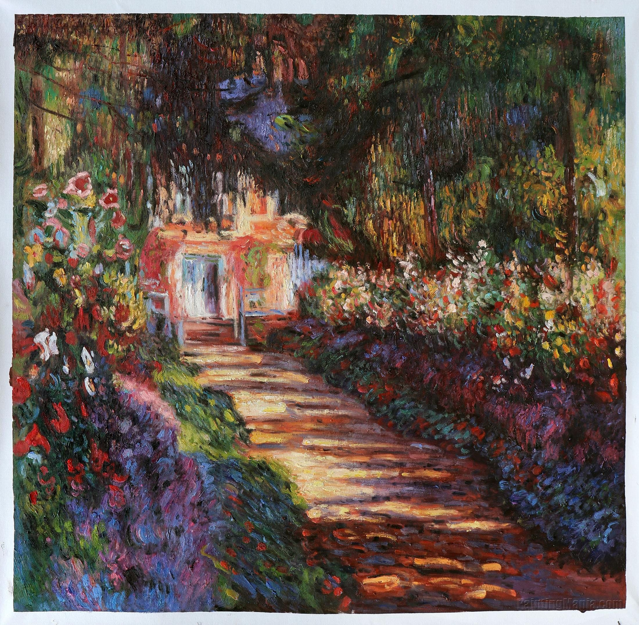 Pathway In Monet S Garden At Giverny Claude Monet Hand Painted