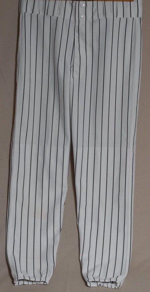 Baseball Pants White Black Stripes Teamwork Athletic Apparel Adult Mens Sz 32 Teamworkathletic Baseball Pants Black Stripes Pants