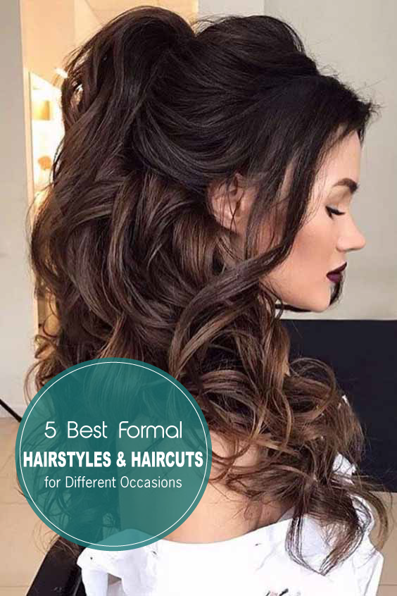13 Best Formal Hairstyles Hairctus For Different Occasions Haar Styling Formliche Frisuren Frisuren Langhaar