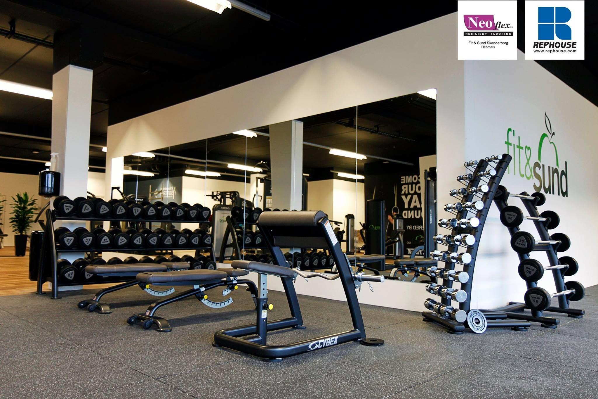 Neoflex Premium Gym Tiles Fit Sund Denmark Gym Flooring Rubber Gym Flooring Gym Design