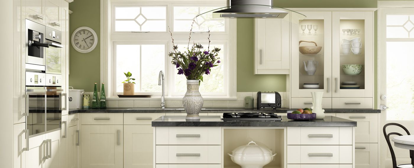 Olive Green Kitchen Walls Cream Units Google Search