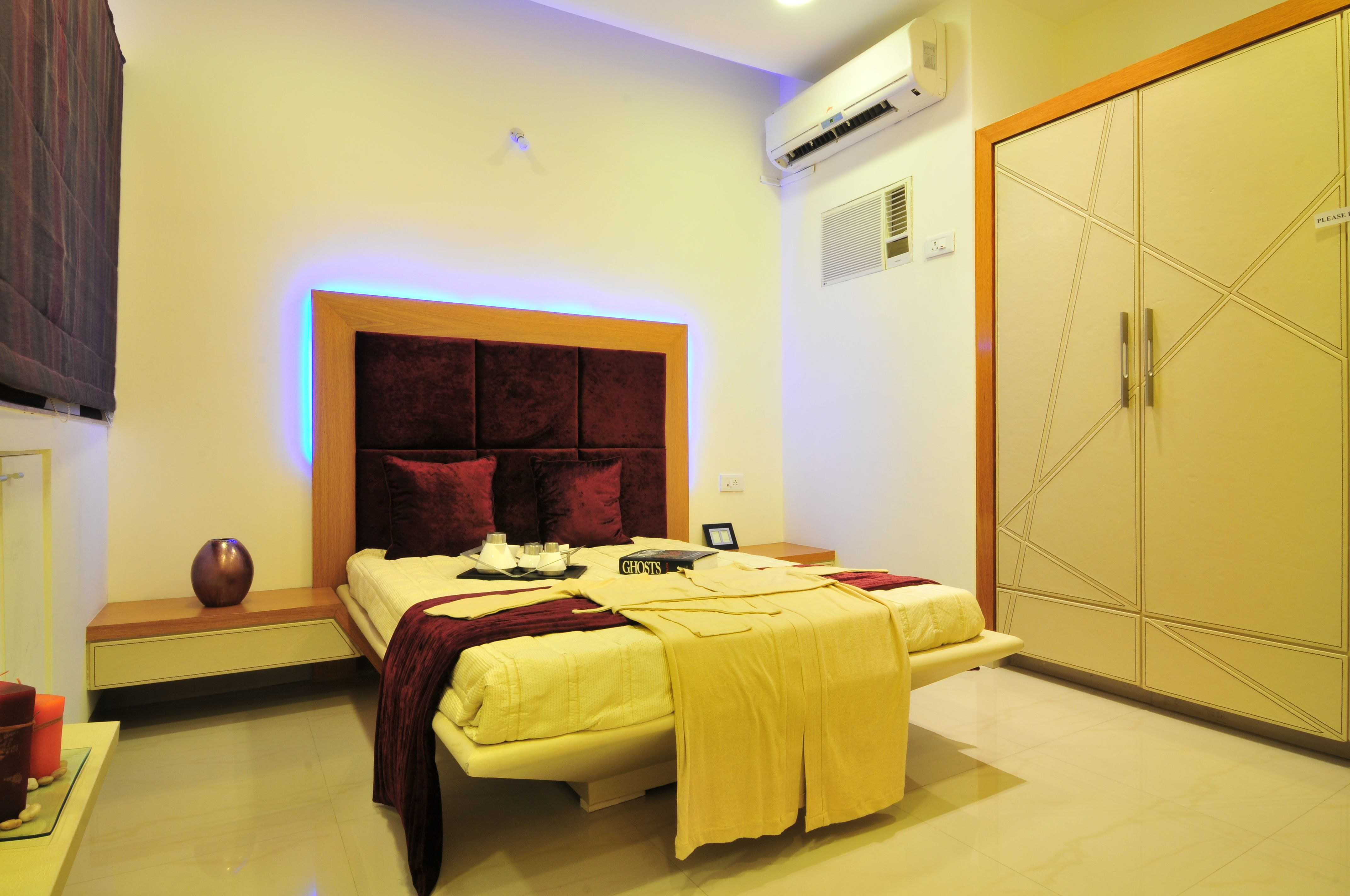 Master bedroom with 2 beds  Spacious and trendy master bedroom at Global City with wonderful