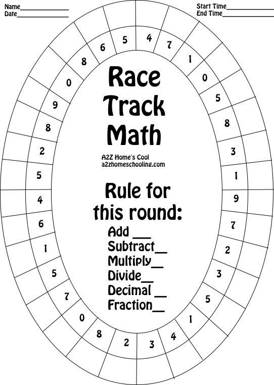 Http A2zhomeschooling Com Explore Math Race Track Math Worksheet Math Fact Worksheets Math Facts Math