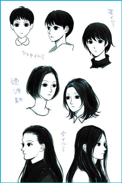 Illumi zoldyck Hunter x Hunter - This is cool, I know he had short hair but I never imagined the several lengths that it was
