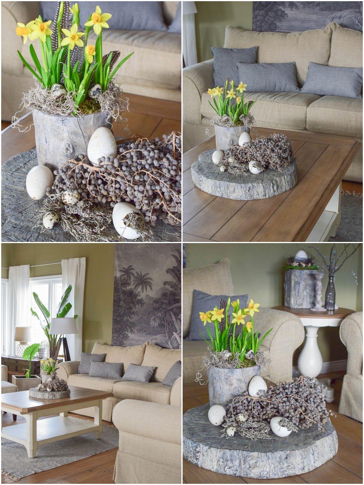 Gedecktes Oster Arrangement Fur Tisch Und Sideboard Easter