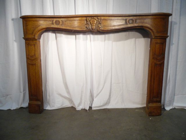 fieplace wood louis xiv solid oak - Cheminées - Cheminées et décorations - Nord Antique