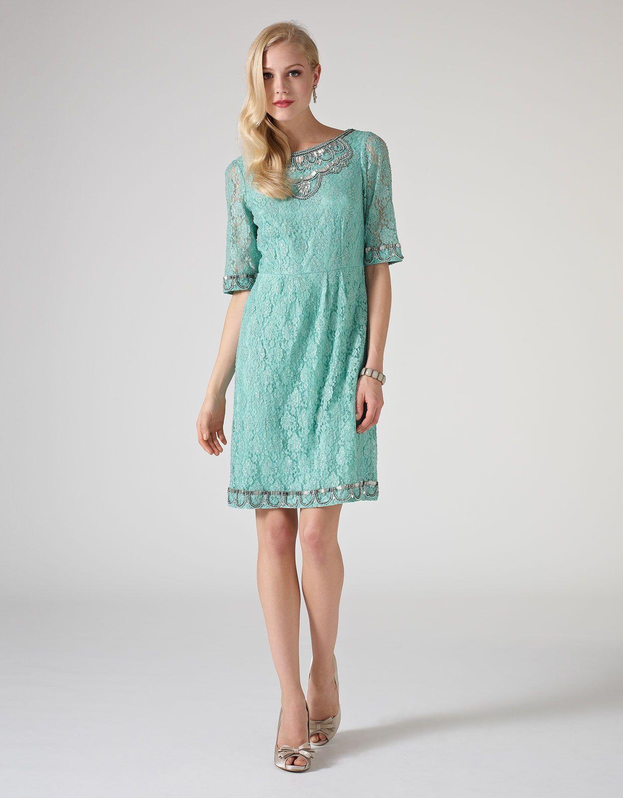 Mena Lace Dress | Green | Monsoon | Vestidos elegantes | Pinterest ...