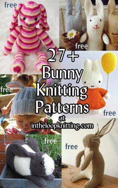 Bunny Rabbit Knitting Patterns Free Knitting Patterns Pinterest
