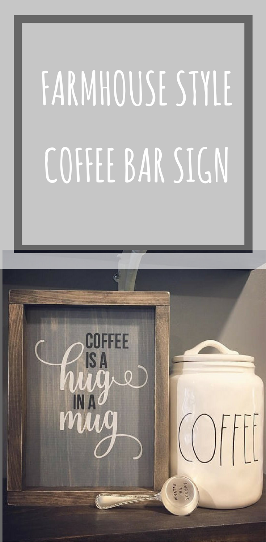 The coffee jar #coffeebar #kitchen #sign | Country decor | Pinterest