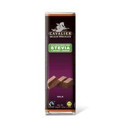Sjokolade søtet med stevia, og inneholder ikke sukker. Smaker melkesjokolade. Kan kjøpes på helsekosten