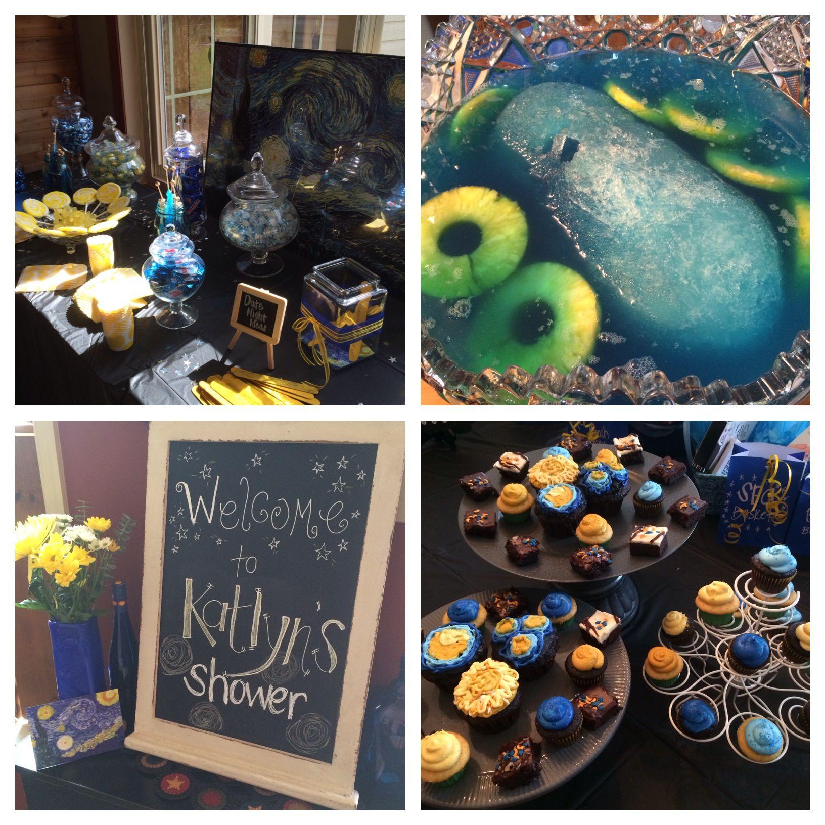 Van Gogh Starry Night Bridal Shower Theme ohbotherblog