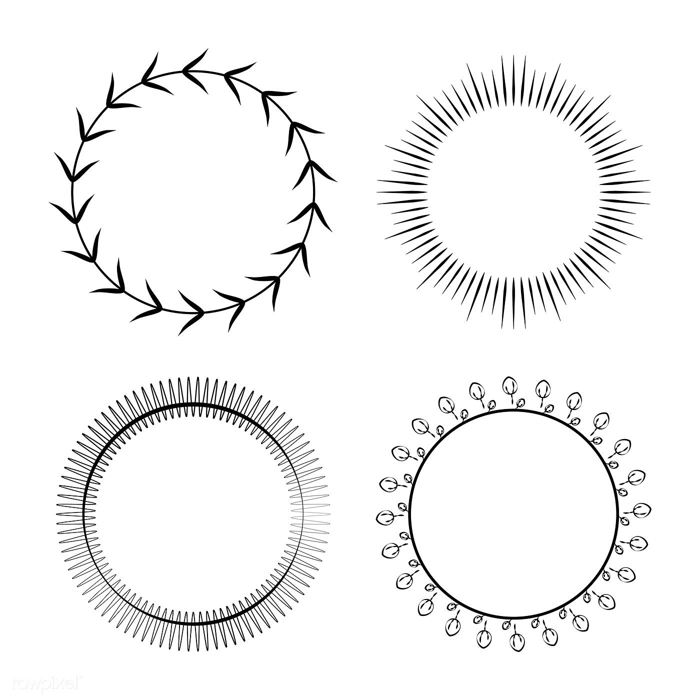 Collection Of Round Ornament Design Vector Free Image By Rawpixel Com Ornaments Design Flower Drawing Design Round Ornaments