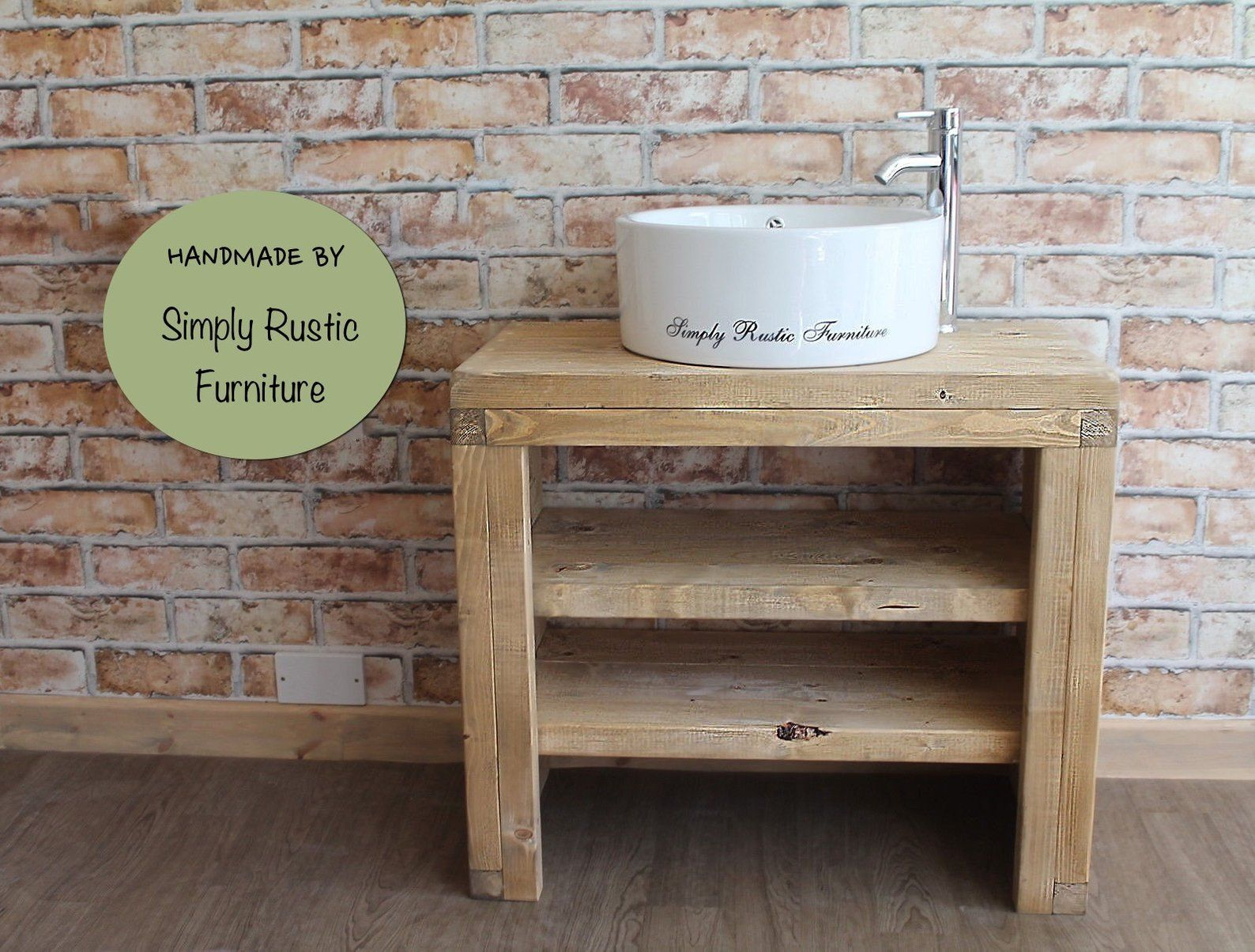 The Mossy Pine Wash Stand Hand Crafted Rustic Bathroom Vanity