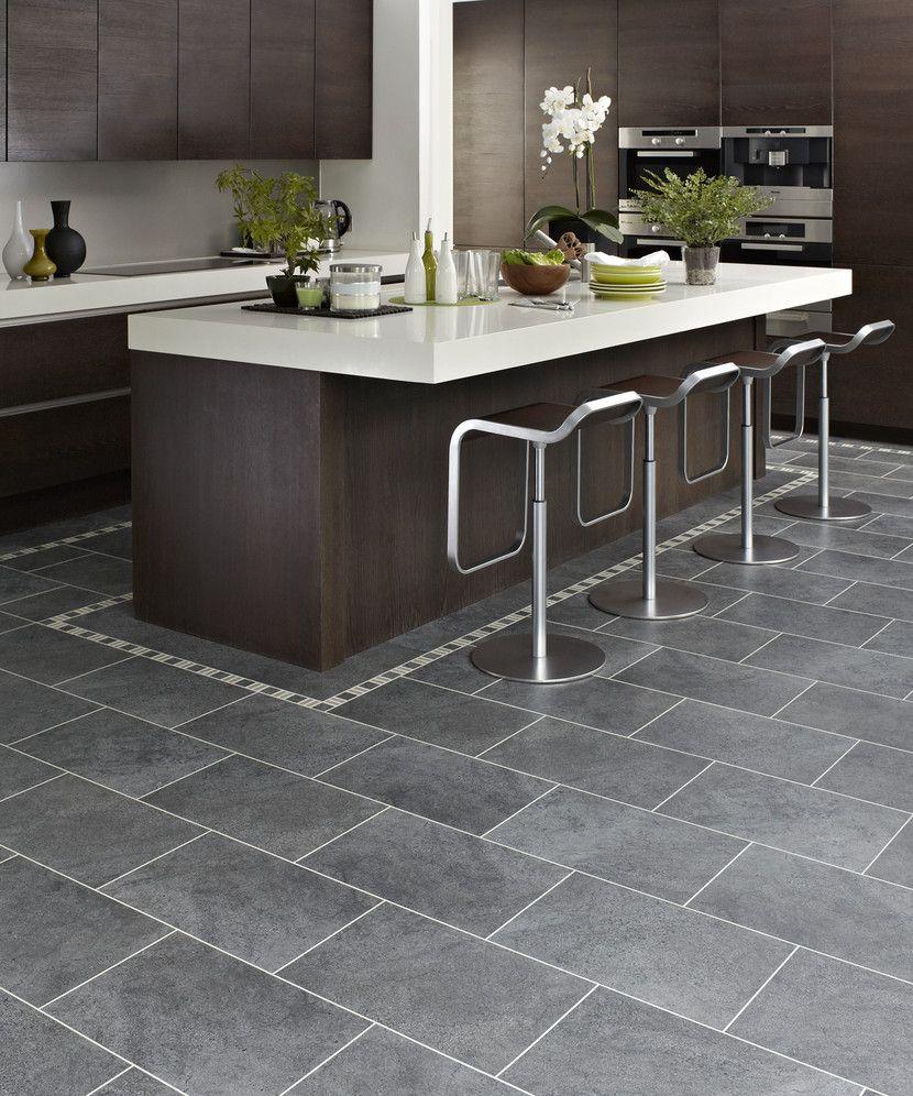 Pin By Olga Komadina On Kitchens Grey Kitchen Floor Modern