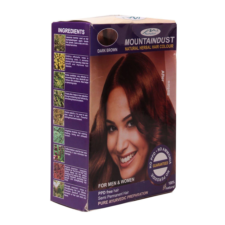 Mountaindust Bio Herbal Colour Dark Brown 150gm Products