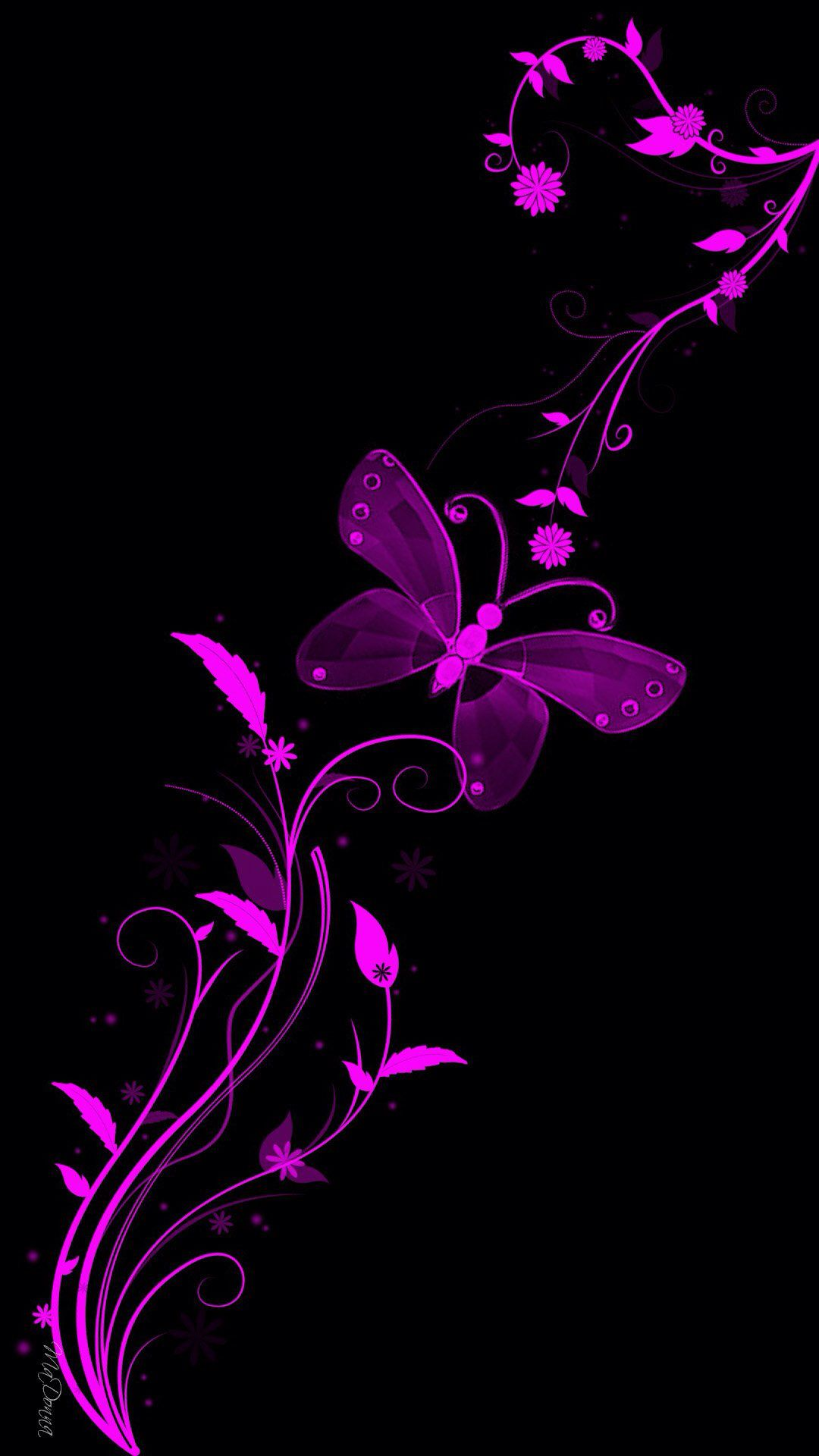 Black And Purple Butterfly Butterfly Wallpaper Black And Purple