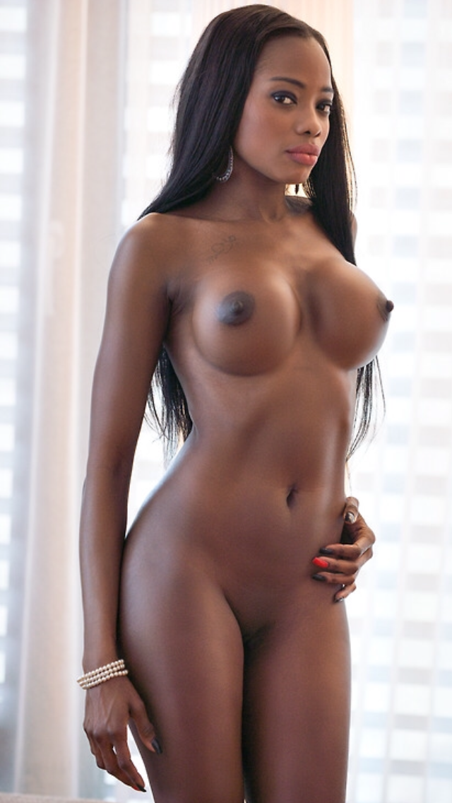black lady cought nude