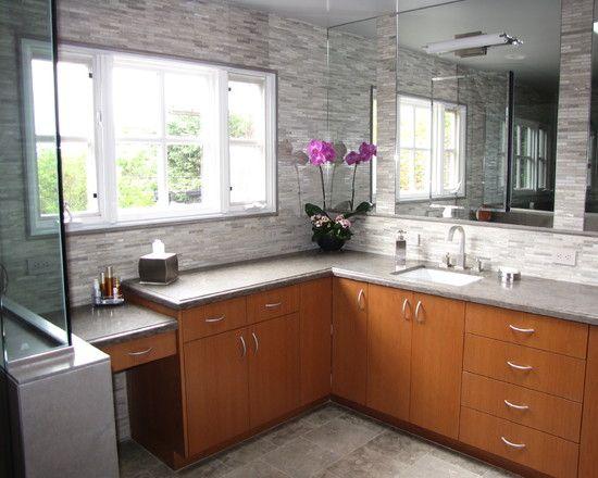 L Shaped Vanity Home Salledebain Cheap Bathroom