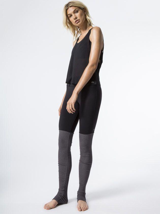 421c609648d6b ALO YOGA Goddess Ribbed Legging | Yoga Beach Lifestyle Looks | Black ...