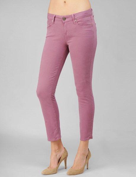 Paige Denim Womens Cotton Kylie Crop Pant   Lavendar Field   Size 26
