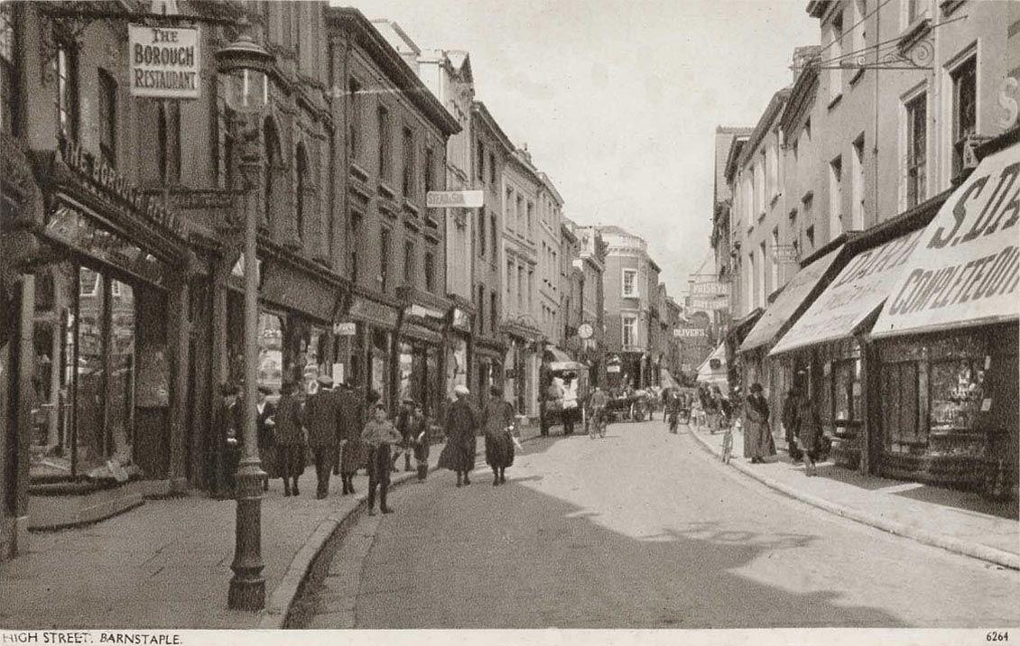 Devon, Barnstaple High Street, The Borough Restaurant (1920s