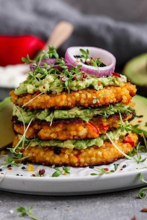 Knusprige Hirse Taler (vegan) - aus Gemüse - schnell und einfach gemacht -