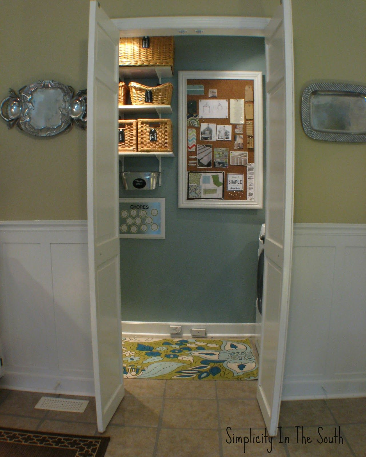 Bulletin Board That Covers The Fuse Box Laundry Room Reveal Home Doors