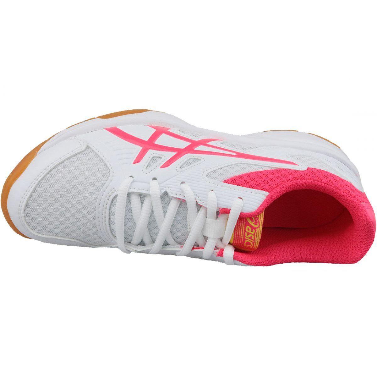 Buty Do Siatkowki Asics Upcourt 3 W 1072a012 104 Biale Wielokolorowe Volleyball Shoes Most Popular Shoes Popular Shoes