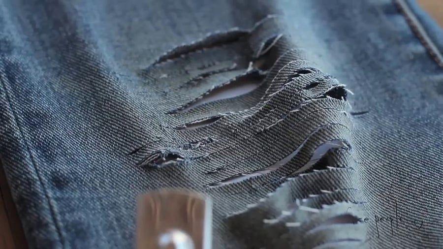 Denim diy with free people on vimeo diy distressed jeans