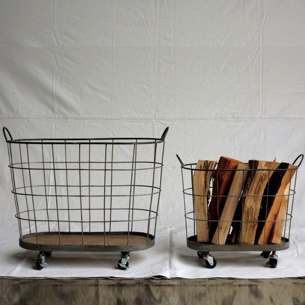 Metal Rolling Laundry Baskets Set Of 2 Rolling Laundry Basket