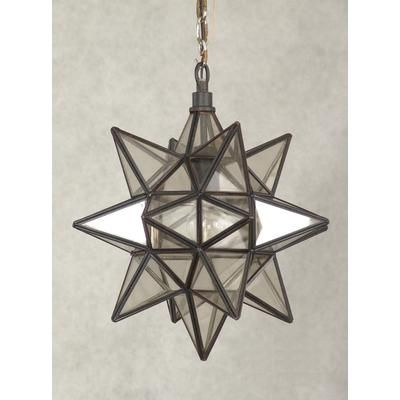 Hampton Bay Moravian Star Collection 1 Light Pendant