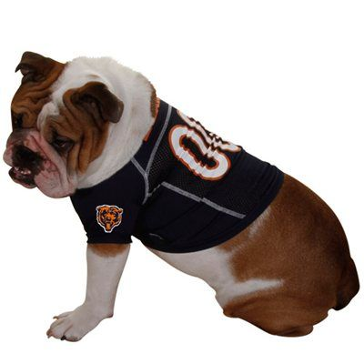 1c8ca1ce0 Chicago Bears Navy Blue Football Fetch Mesh Pet Jersey