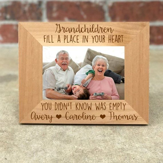Great Grandchildren Personalised Engraved Photo Frame Gift Grandma Grandad