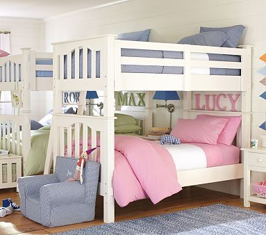 Best Boy Girl Bunk Beds Bunks Side By Side Kid Room Decor 400 x 300