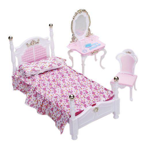 1/12 Dollhouse Mínimos Un Conjunto De Muebles De Dormitorio De ...