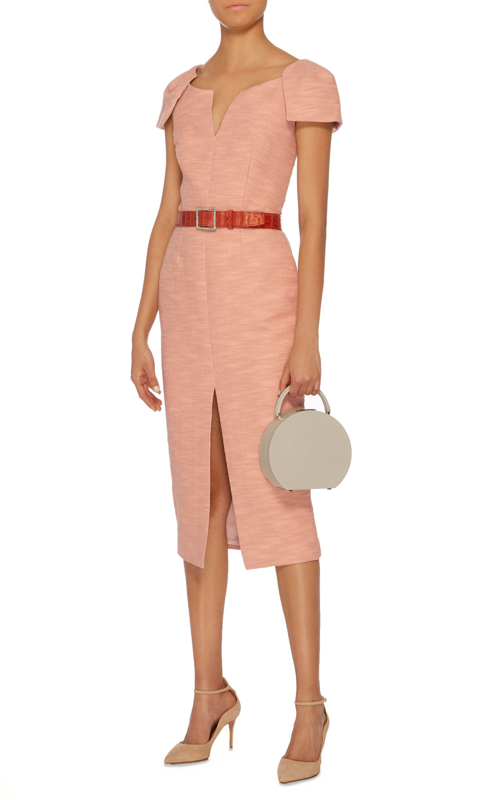 Structured Cap Sleeve Midi Dress By Martin Grant Now Available On Moda Operandi Midi Dress With Sleeves Fashion Dresses [ 2560 x 1598 Pixel ]