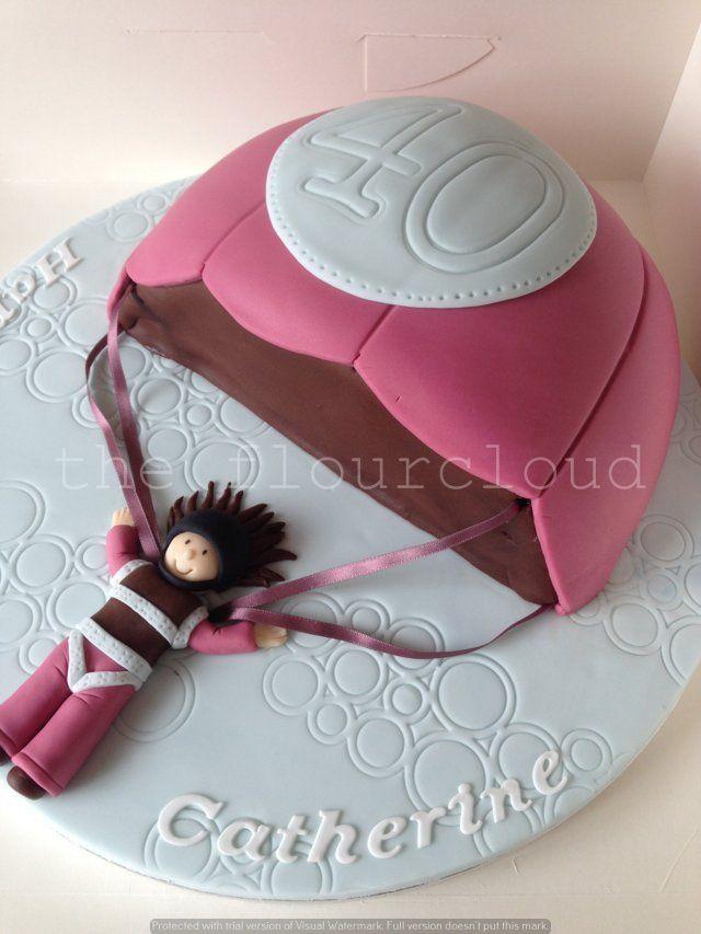 A parachute birthday cake Cakes Pinterest Parachutes