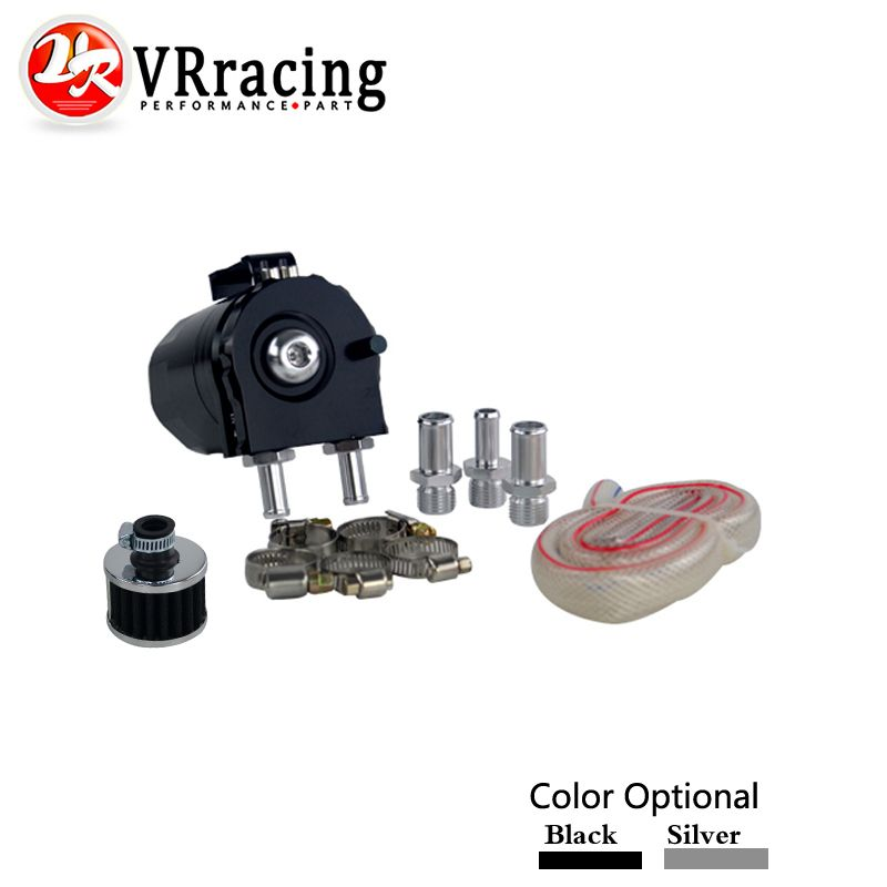 Vr Racing Baffled Aluminum Oil Catch Can Reservoir Tank Oil