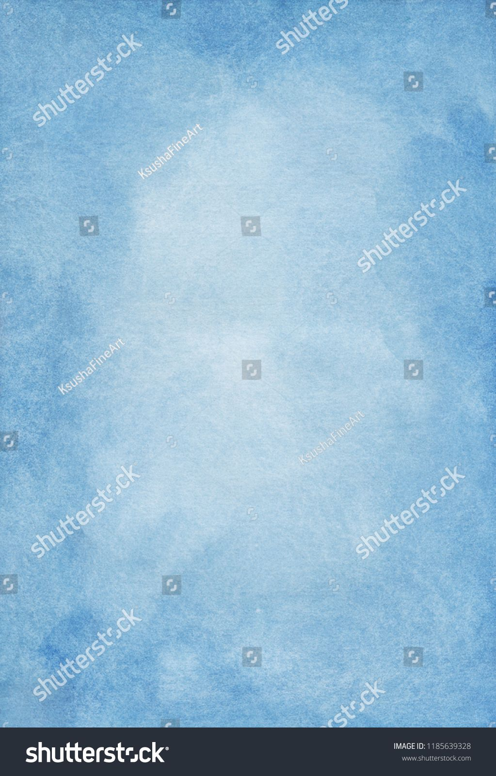 Blue Watercolor Background Airy Blue Color Trend Overlay Sky