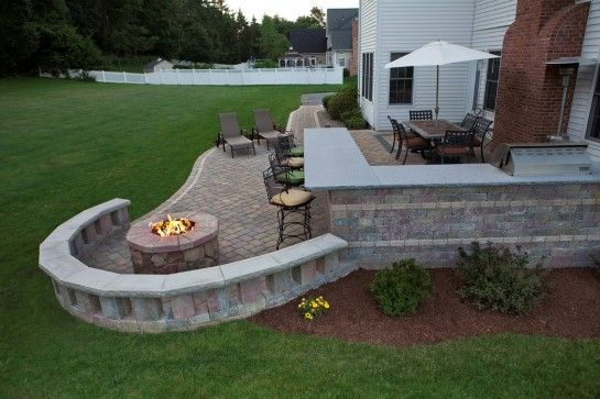 patio paver remarkable patio pavers with fire pit and ...