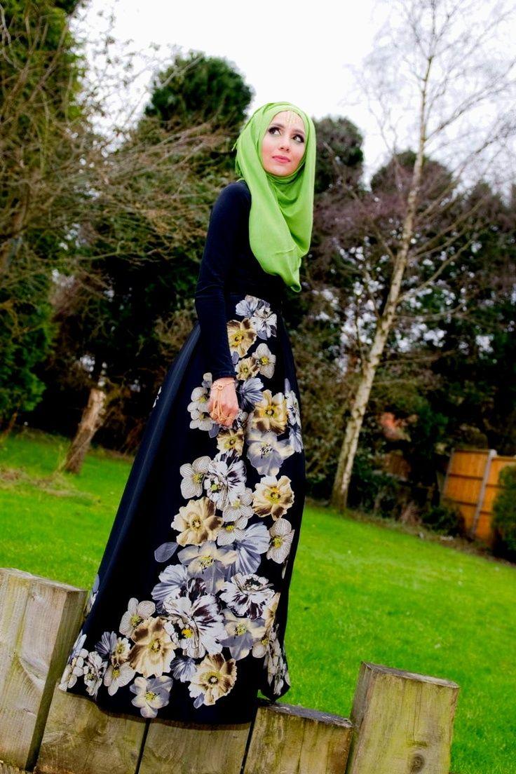 Hijabinistas Green Pashmina Maxi Dress My Hijab Pinterest