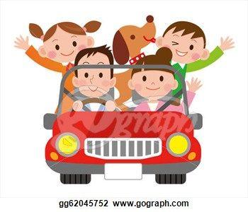 Stock Illustration Family Travel In The Car Clipart Gg62045752 Illustration Clip Art Family Travel