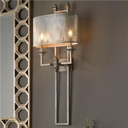 Bathroom Sconces With Shades mesh screen metal sconce | mesh screen, screens and metals