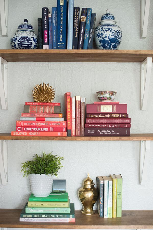 A Layered And Colorful DC Home Tour | Bookshelf styling, Shelfie and ...