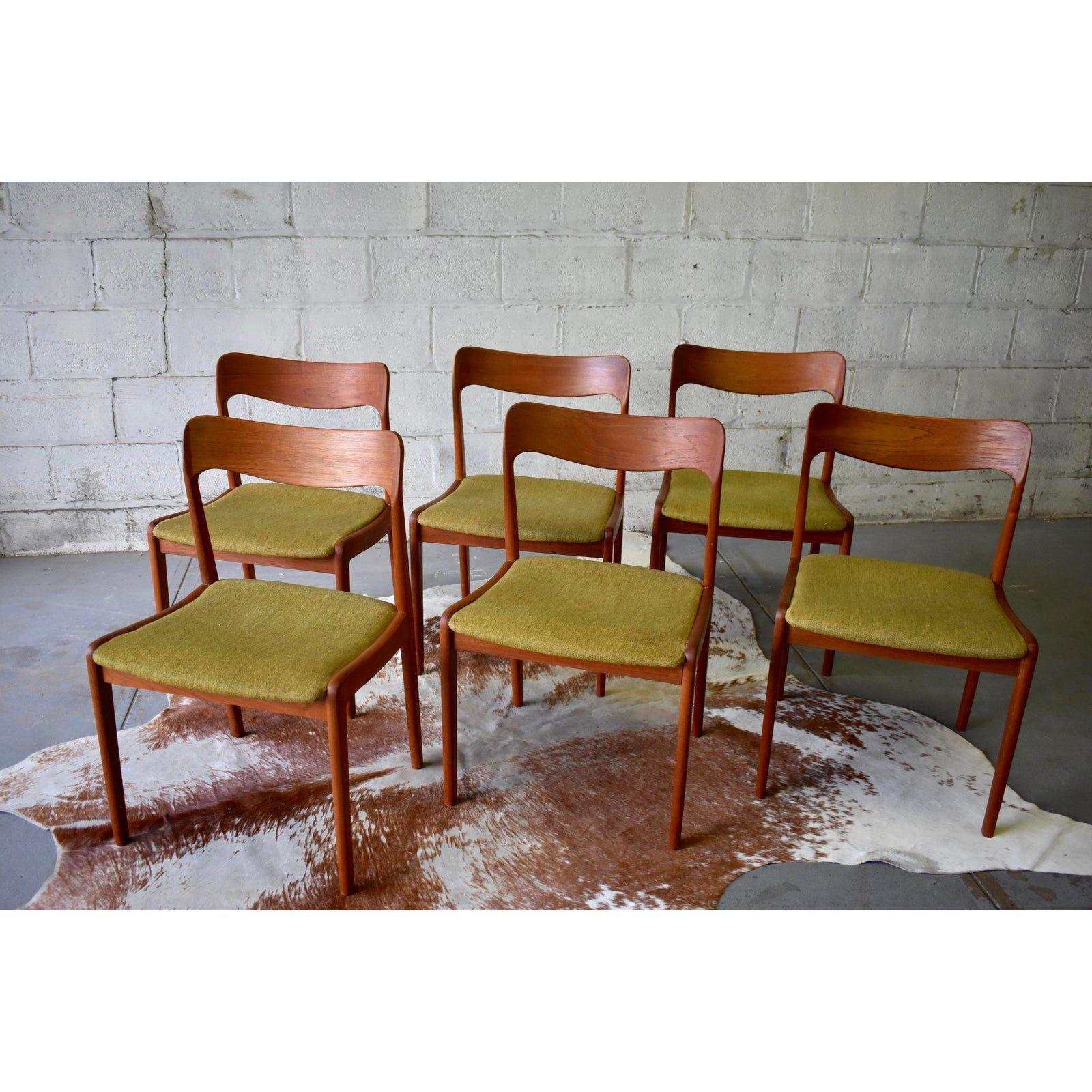Danish Mid Century Modern Teak Dining Chairs, Set/8  Chairish